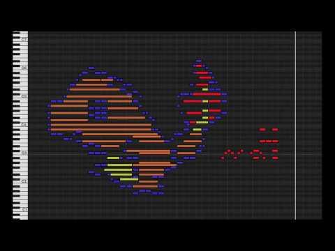 MIDI Drawing no. #10 - Charmander (pokemon 004)