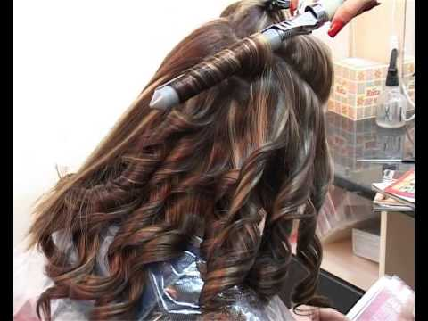 Мелирование на тёмные волосы с тонировкой