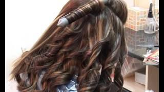 видео мелирование на темные длинные волосы