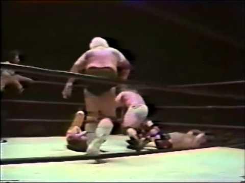 Dusty Rhodes Injured By Kevin Sullivan's Golden Spike (1984)