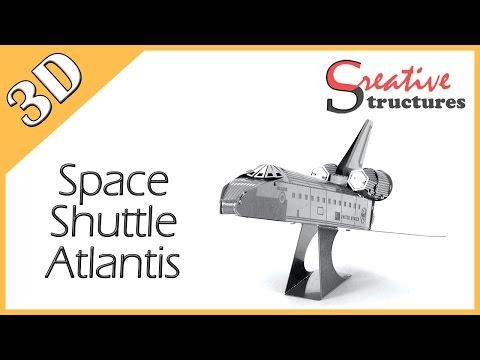 3D metal model & puzzle - Space Shuttle Atlantis (Aviation)