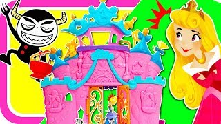 ディズニープリンセス♪♪ ベルやラプンツェル、シンデレラとエレベーターのある大きなダンスキャッスルでパーティーをしたよ♪♪  おえかきでごちそうも作っちゃおう! シンデレラ 検索動画 27