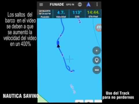 Navegando un Track, con dispositivo Android . Sin señal de internet