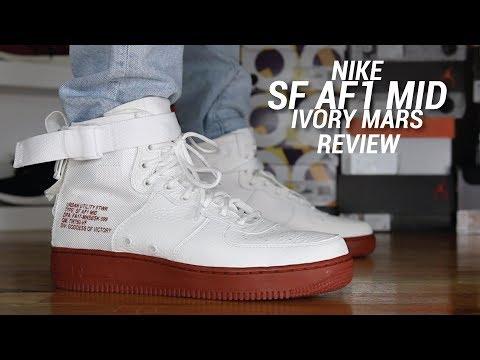 NIKE SF AF1 MID IVORY MARS REVIEW
