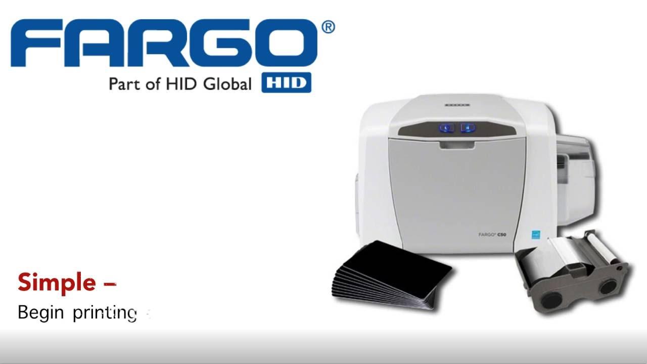 HID FARGO® C50 ID Card Printer - YouTube