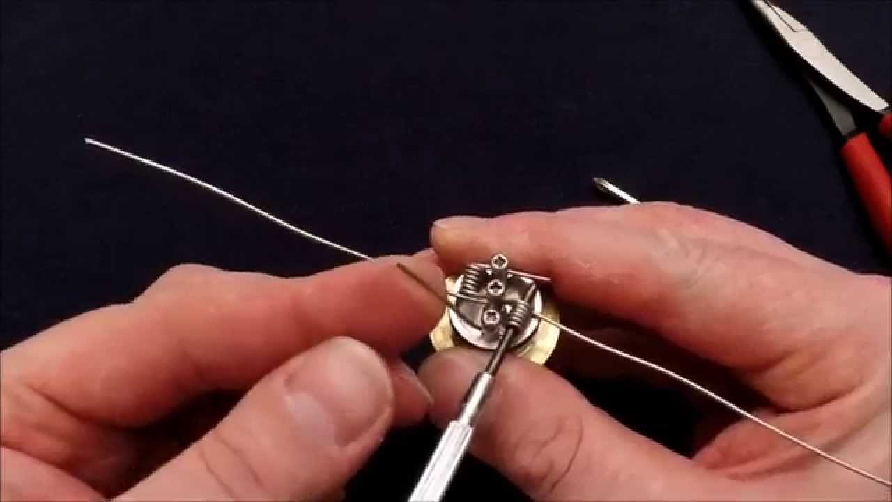 18 gauge dual coil tutorial organic cotton wick youtube greentooth Images