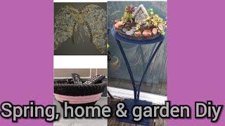 3 Dollar tree DIY spring/garden decorations