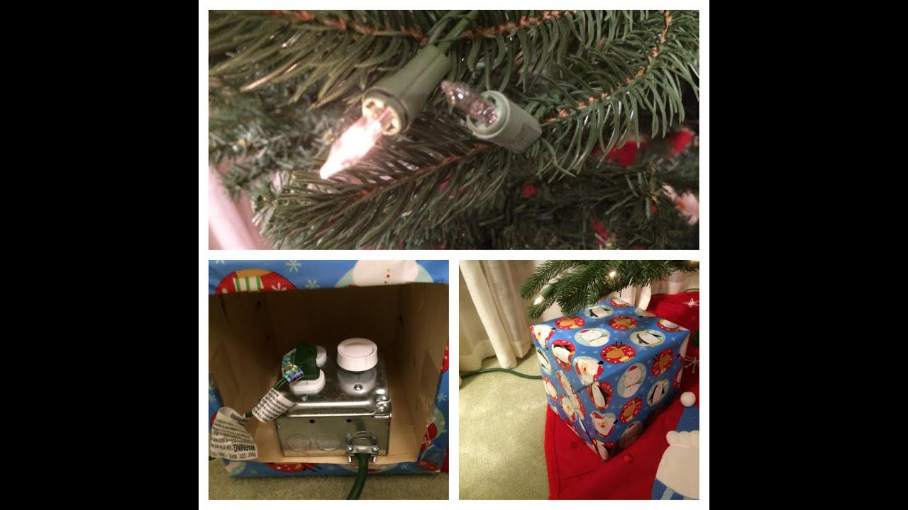 christmas tree light dimmer in a christmas present youtube