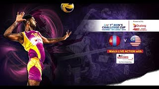 Mongolia v Malaysia – 7th Place - 1st Asian Men's Volleyball Challenge Cup