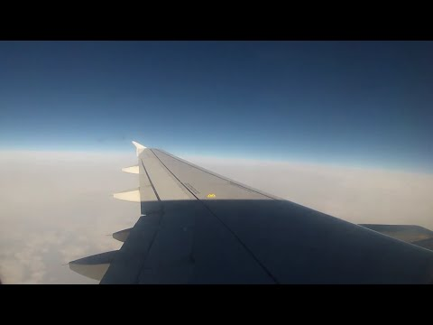 Aegean A320 Full Flight LGTS-LGRP | GoPro Wing View | AEE501 Thessaloniki - Rhodes