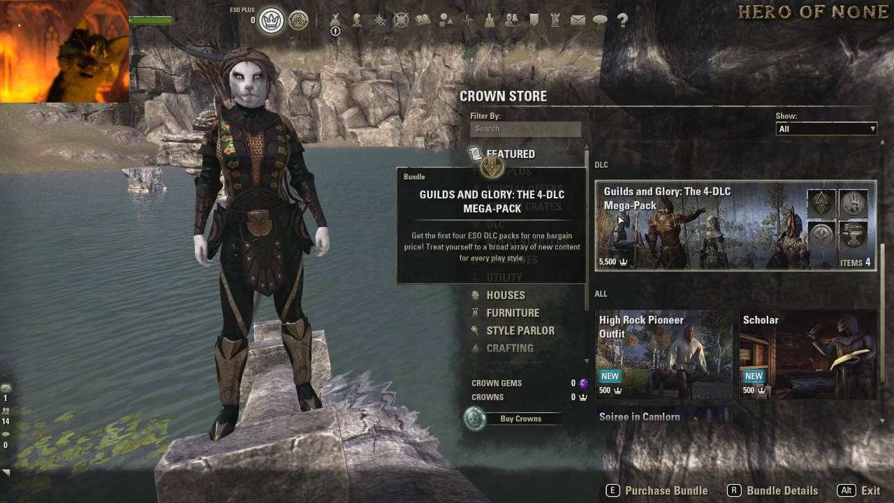 eso morrowind upgrade gold standard steam eso crowns youtube
