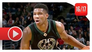 Giannis Antetokounmpo Full Highlights vs Hawks (2017.03.24) - 34 Pts, 13 Reb, CRAZY DUNKS!