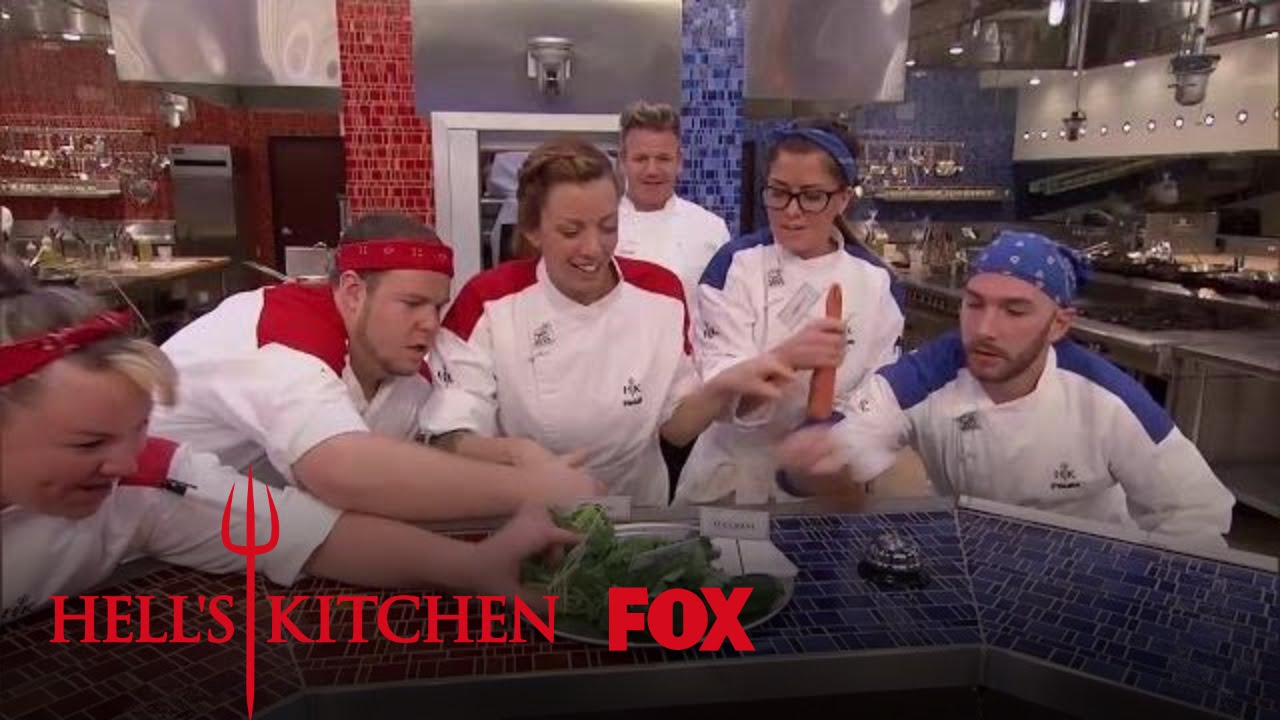 The chefs fight for ingredients season 16 ep 13 hell for Watch hell s kitchen season 16