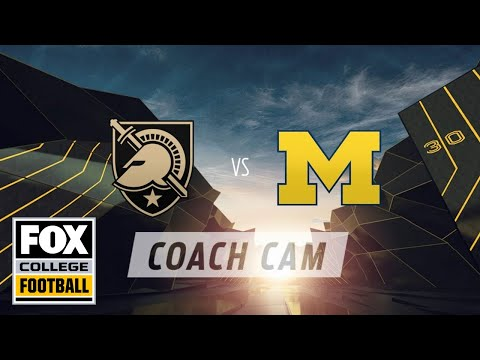 Jim Harbaugh Coach Cam: Army At Michigan | FOX COLLEGE FOOTBALL