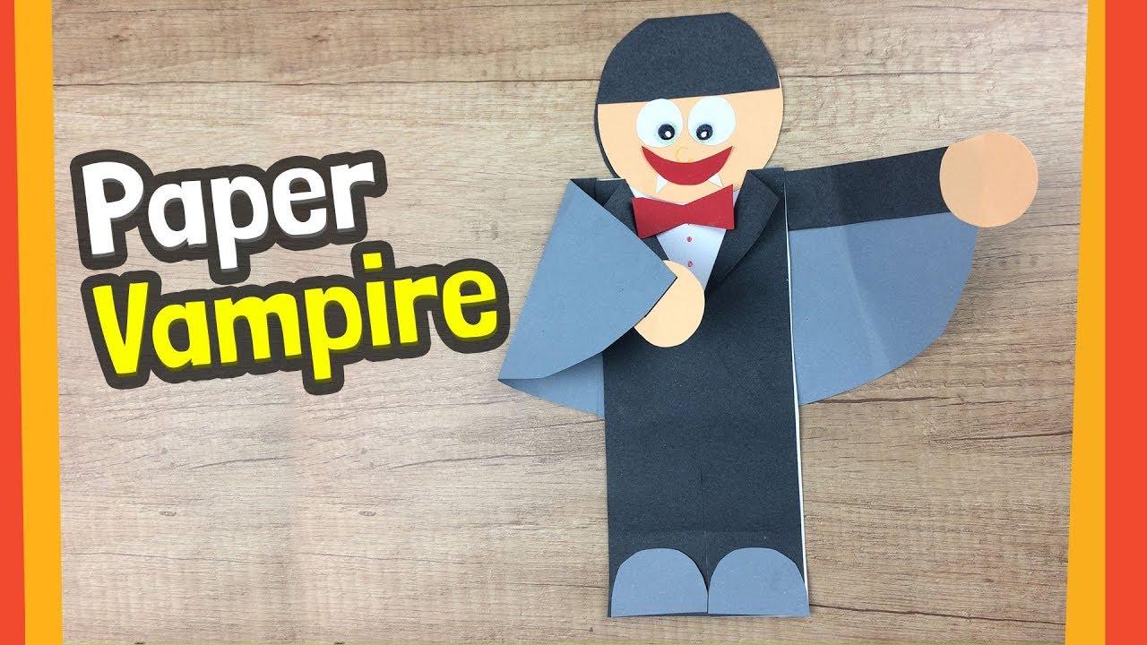 Paper Vampire Craft Fun Halloween Crafts For Kids Youtube