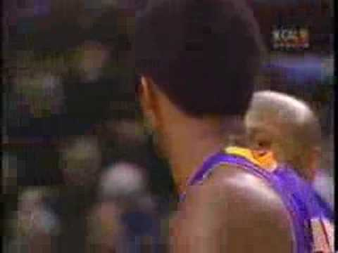 Kobe Bryant Lakers vs Portland TrailBlazers 2000 00-01 NBA