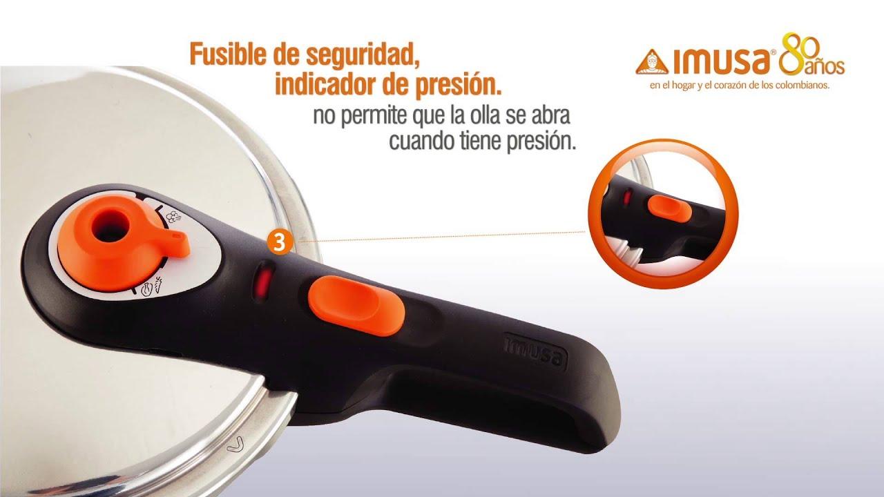 Details about  /Olla A Presion Express Aluminio 8.5 Litros Fácil Uso Reduce Tiempo en 75/% Imusa