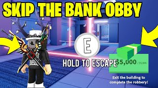 NEVER DO BANK OBBY AGAIN WITH THIS JAILBREAK GLITCH...! ROBLOX