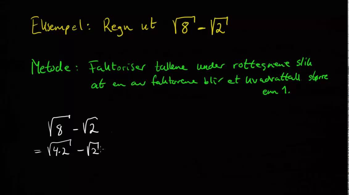 β00183: Potenser - kvadrattall og regler for kvadratrøtter