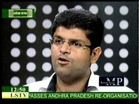 Dushyant Ji interview at Lok Sabha Channel