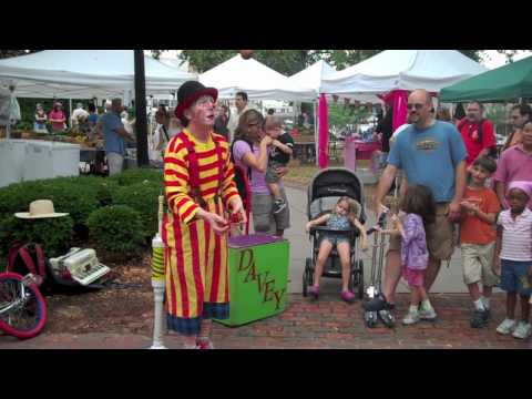 Davey The Clown at Roslindale Farmers