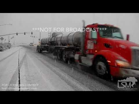 02-22-19 Tucson, AZ - Rare Winter Storm, Difficult Driving, Winter Wonderland, Cacti, Snow, Accident