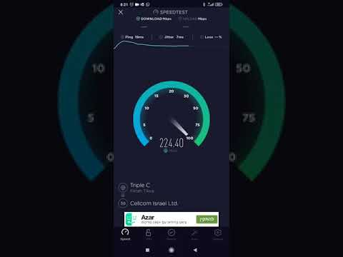 5G Speed Test - Israel [Cellcom]