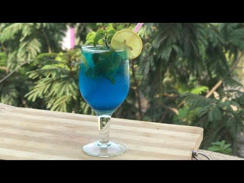 Blue lagoon mocktail recipe iftar drinks