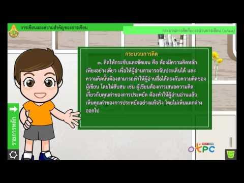 การเขียนและความสำคัญของการเขียน - ภาษาไทย ม.2