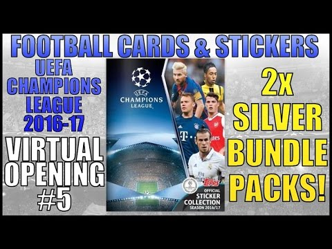 2x SILVER BUNDLE PACKS | UEFA CHAMPIONS LEAGUE 2017 STICKERS | VIRTUAL OPENING
