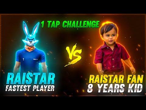8 Years Boy Challenge Raistar    1 Tap Shot Clash Squad 1 vs 1   Garena Free Fire