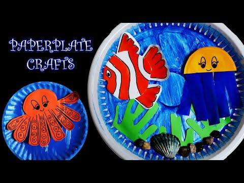 3 DIY PAPER CRAFTS FOR KIDS| PAPERPLATE AQUARIUM | EASY CRAFTS