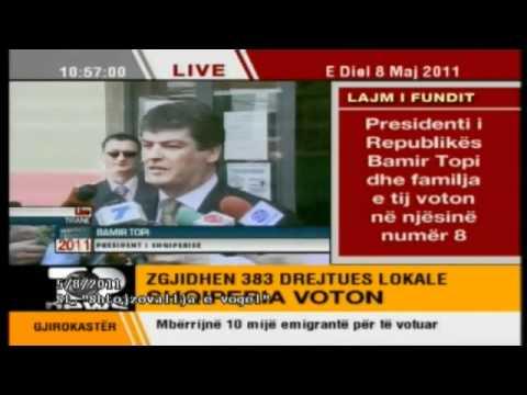 Presidenti Bamir Topi Voton Gabim
