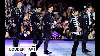 Gambar cover 엑소 EXO[4K 직캠]Lotto & LOUDER 라우더@Rock Music