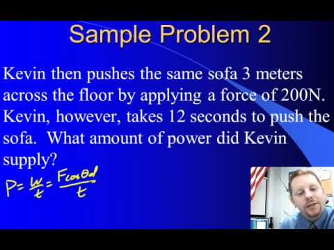 High School Physics - Power