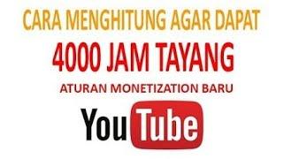 Trik Mendapatkan 4000 jam tayang di Youtube