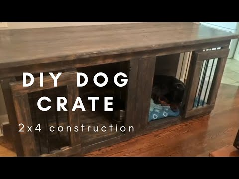 How to make a custom furniture dog crate