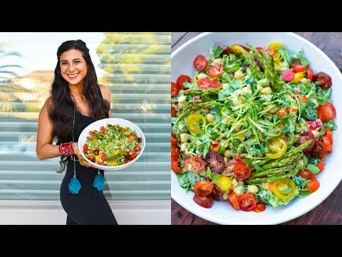 High Protein Veggie Salad! FullyRaw Vegan Recipe!