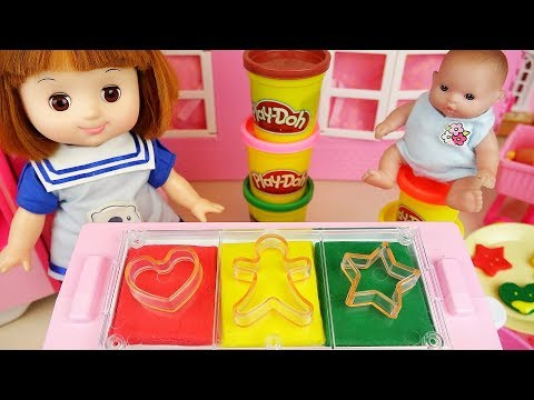 Thumbnail: Baby Doli and Play doh cookie making toys baby doll play