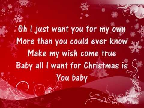 Youtube Mariah Carey Christmas.Mariah Carey All I Want For Christmas Is You Lyrics