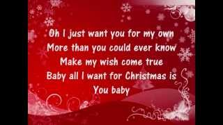 Mariah Carey - All I Want For Christmas Is You - Lyrics thumbnail