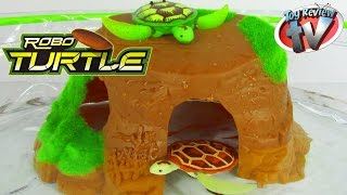 ROBO TURTLE ROCK & BOWL PLAYSET Robotic Pet Toy Review Unboxing Family Video