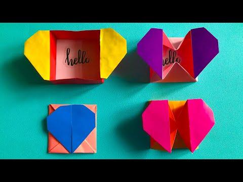 3D ОРИГАМИ КОРОБОЧКА-СЕРДЕЧКО Как сделать открытку на 8 Марта | ORIGAMI HEART BOX ENVELOPE