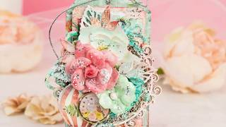Two Multilayerd Romantic Tags/ Step by Step Cardmaking Tutorial