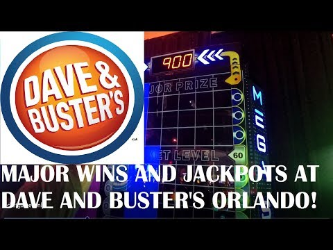 MEGA VIDEO at Dave and Buster's Orlando! Kids  play some of the best arcade games and win JACKPOTS