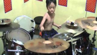 Avenged SevenFold '' Bat Country '' Drum Cover Ariel drummer 6year
