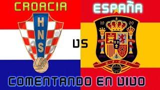 CROACIA vs ESPAÑA | COMENTANDO EN VIVO LA UEFA NATIONS LEAGUE :: SergioLiveHD