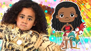 Moana Finger Family | SillyPop