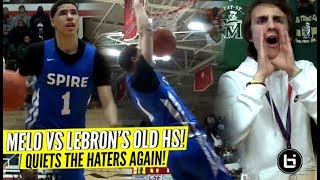 LaMelo Ball Quiets The HATERS vs LeBron's Old High School! Rocket Watts GOES OFF!