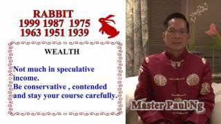 Master Paul Ng 2017 Chinese Zodiac Predictions- Rabbit